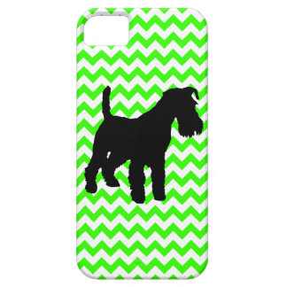 Schnauzer With You Pick The Color Chevron iPhone 5 Cases