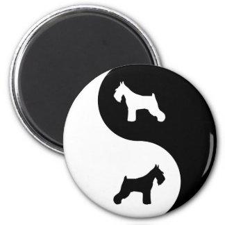 Schnauzer Yin Yang Magnet
