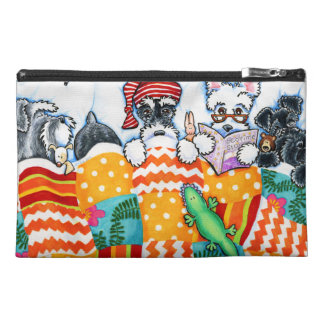 Schnauzers And Snoozes Travel Accessory Bags