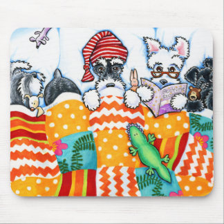 Schnauzers And Snoozes Mousepads