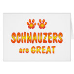 Schnauzers are Great Greeting Cards