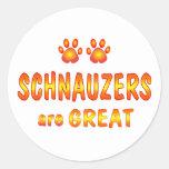 Schnauzers are Great Round Sticker