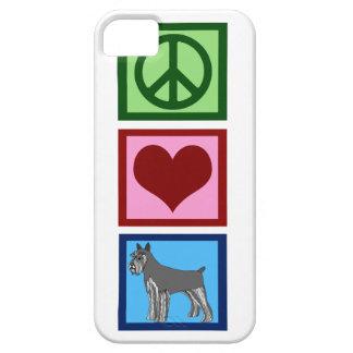 Schnauzers del amor de la paz funda para iPhone 5 barely there