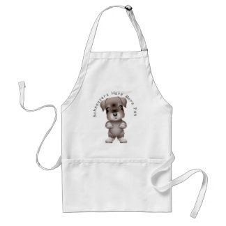 Schnauzers Have More Fun Adult Apron
