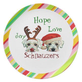 Schnauzers Holiday Plate