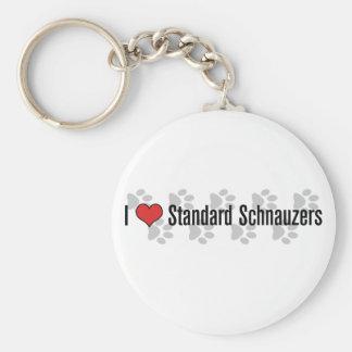 Schnauzers I (del corazón) Llavero Redondo Tipo Pin