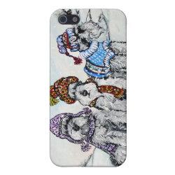 Case Savvy iPhone 5 Matte Finish Case with Miniature Schnauzer Phone Cases design
