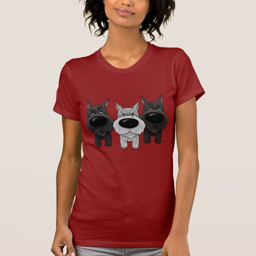 Schnauzers - Nose and Butt View T-Shirt
