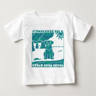 Schnauzers Rule Baby T-Shirt