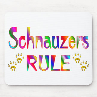 Schnauzers Rule Mouse Pad