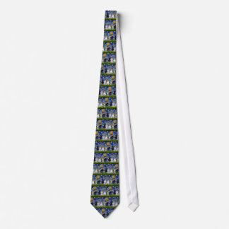 Schnauzers (three) - Starry Night Tie