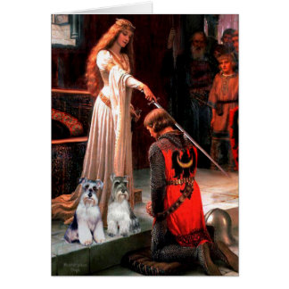 Schnauzers two - The Accolade Greeting Cards