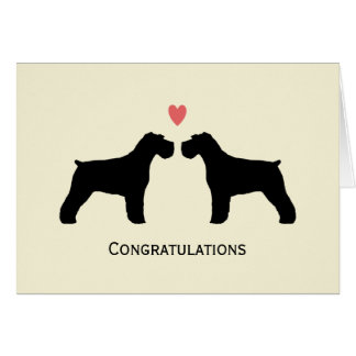 Schnauzers Wedding Congratulations Card