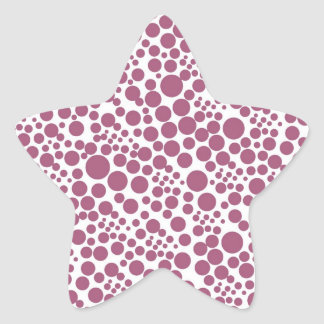 schnee pünktchen puntúa weihnschten dots gira po pegatina en forma de estrella