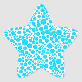 schnee pünktchen puntúa weihnschten ret dots polka pegatina en forma de estrella