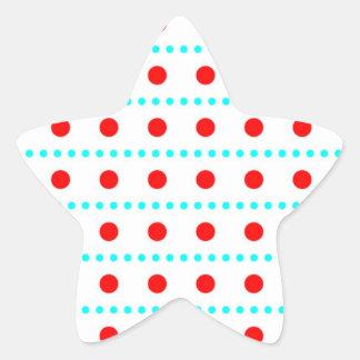 schnee rojo weihnschten rojo pünktchen puntúa habl pegatina en forma de estrella