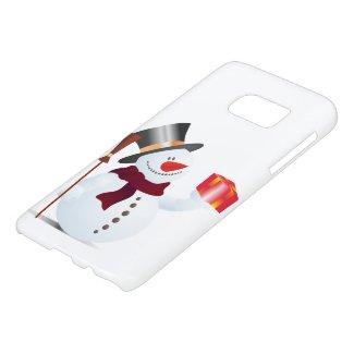 Schneemann / Snowman for Christmas / X-mas Samsung Galaxy S7 Case