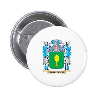 Schneider Coat of Arms - Family Crest 2 Inch Round Button