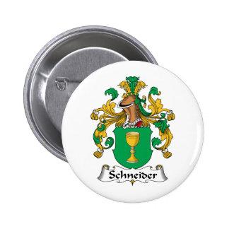 Schneider Family Crest 2 Inch Round Button