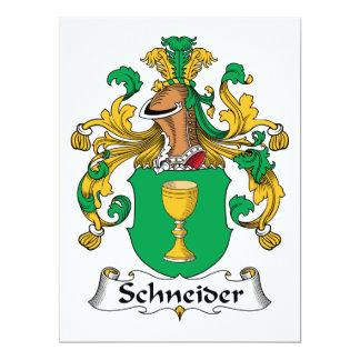 Schneider Family Crest Card