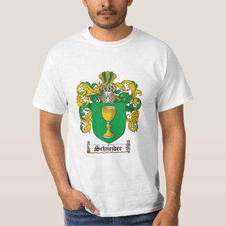 Schneider Family Crest - Schneider Coat of Arms T-shirt