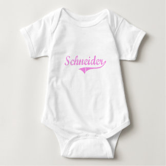 Schneider Last Name Classic Style T Shirts