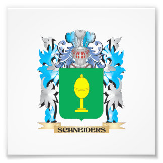 Schneiders Coat of Arms - Family Crest Photo Print