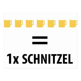 Schnitzel del gleich 1 de 7 féretros tarjeta postal