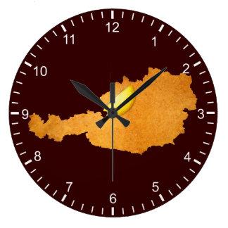 Schnitzel vienés - mapa de Austria Reloj Redondo Grande