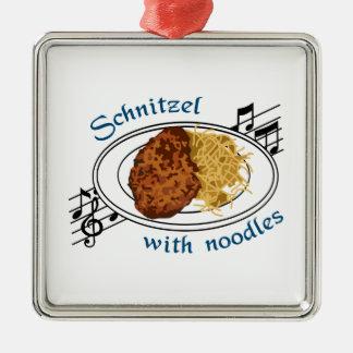 Schnitzel With Noodles Metal Ornament