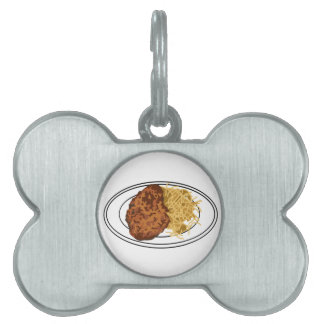 Schnitzel With Noodles Pet Name Tag