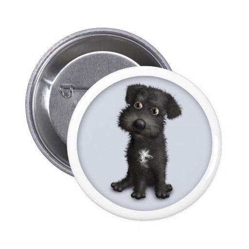 Schnoodle (Black) Button
