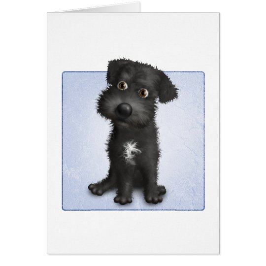 Schnoodle (Black) Card