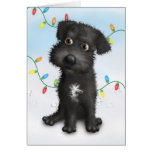 Schnoodle (Black) Christmas Greeting Card
