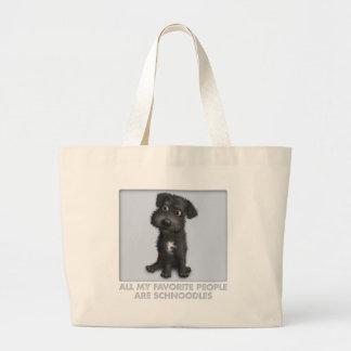 Schnoodle (Black) Favorite Large Tote Bag