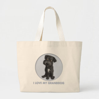 Schnoodle Black Granddog Canvas Bag