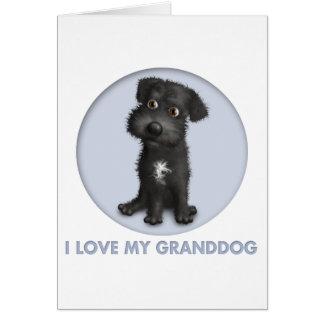 Schnoodle (Black) Granddog Card