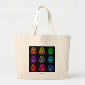 Schnoodle dog pop art 3687 BB Large Tote Bag