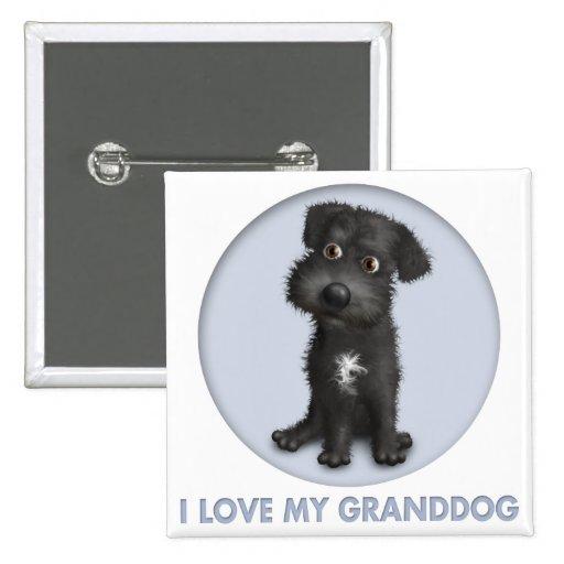 Schnoodle Granddog (negro) Pins
