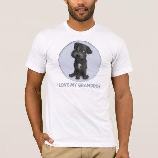 Schnoodle Granddog (negro) Playera