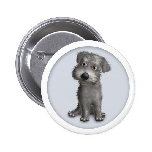 Schnoodle (Gray) Button