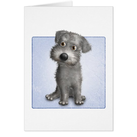 Schnoodle (Gray) Card