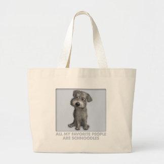 Schnoodle (Gray) Favorite Canvas Bag