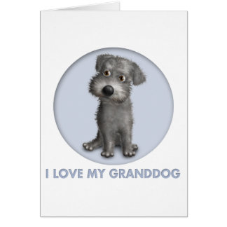 Schnoodle (Gray) Granddog Card
