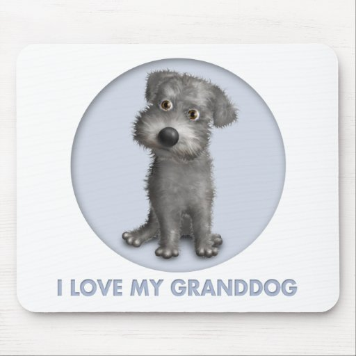 Schnoodle (Gray) Granddog Mouse Mats