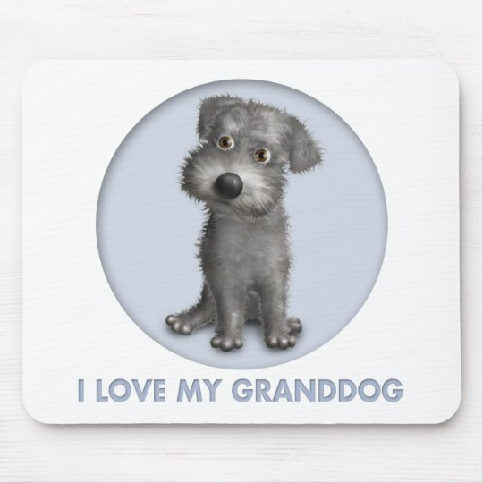 Schnoodle (Gray) Granddog Mouse Pad