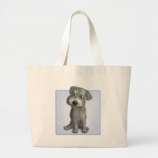 Schnoodle (Gray) Large Tote Bag