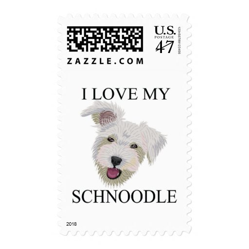 SCHNOODLE Love! Postage Stamp
