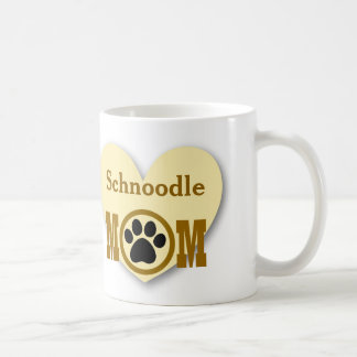 Schnoodle Mom Dog Lover Paw Print Gift HY7 Classic White Coffee Mug