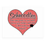Schnoodle Paw Prints Dog Humor Post Card